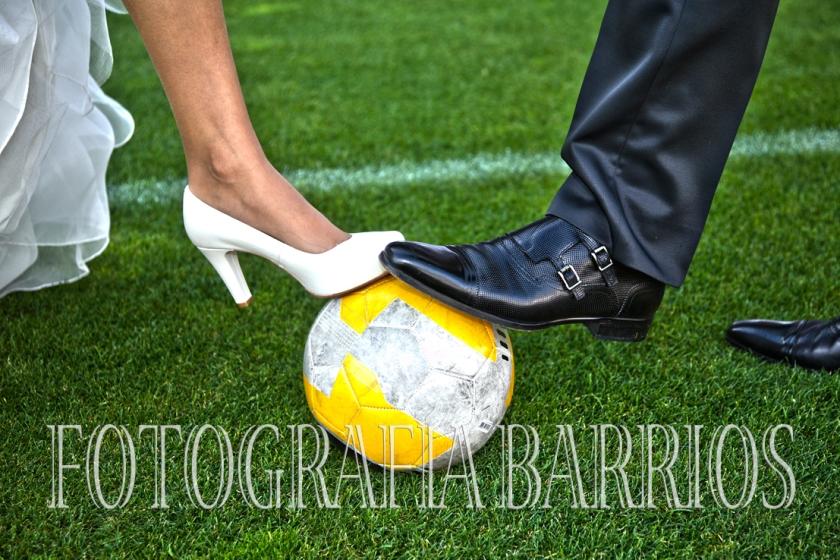 reportaje boda fútbol